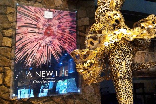 """""""A NEW LIFE""""Solo Exhibition of Multi-Dimensional Italian Artist -in Negev Art Gallery Gastro-Wisma Mulia -Jakarta"""