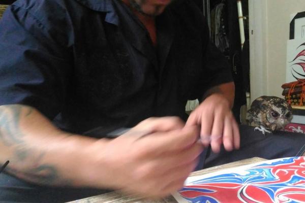 Giorgio Sciarreta at work